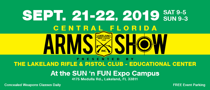 Arms Show Sept. 21-22, 2019